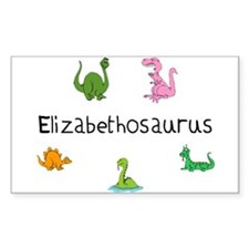Elizabethosaurus Rectangle Decal