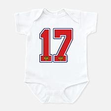 RU Russia Hockey 17 Infant Bodysuit
