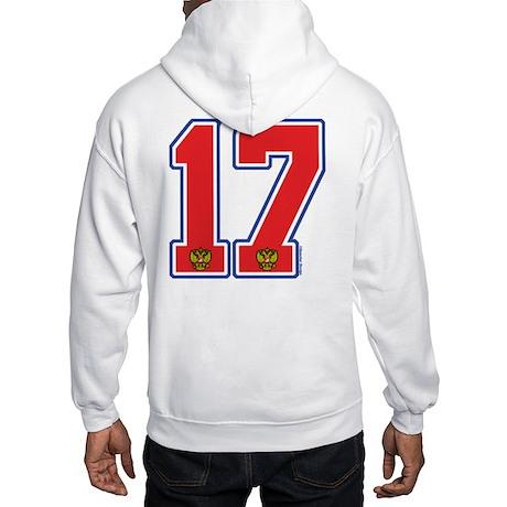 RU Russia Hockey 17 Hooded Sweatshirt