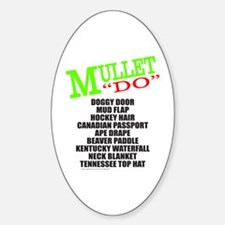 MULLET Oval Decal