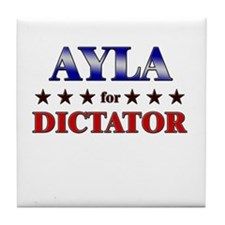 AYLA for dictator Tile Coaster