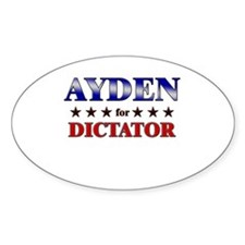 AYDEN for dictator Oval Decal