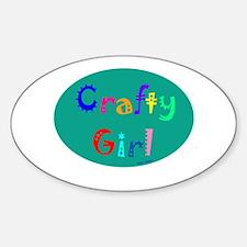 Crafty Girl Oval Decal
