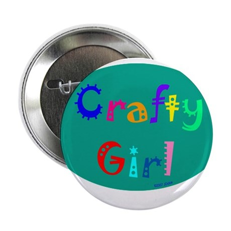 "Crafty Girl 2.25"" Button (10 pack)"