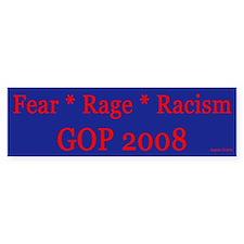 GOP Fear Rage Platform Bumper Sticker - blue