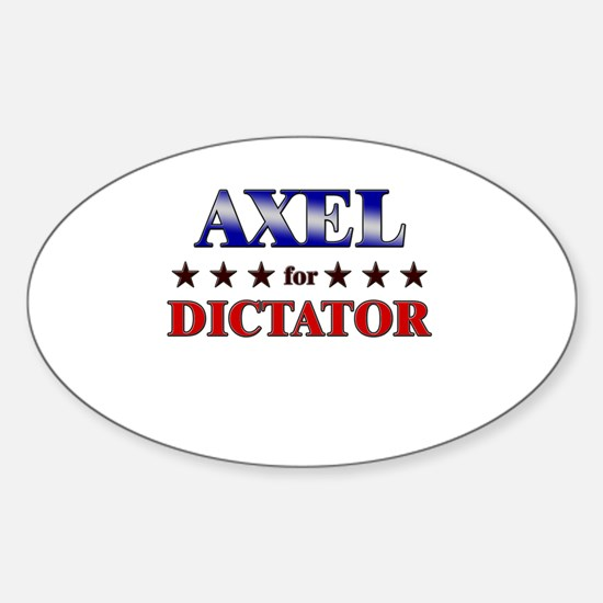 AXEL for dictator Oval Decal