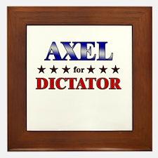 AXEL for dictator Framed Tile