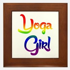 Yoga Girl Framed Tile