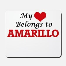 My heart belongs to Amarillo Texas Mousepad