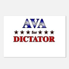 AVA for dictator Postcards (Package of 8)