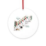 Rabbit Round Ornaments