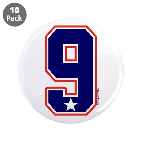 "US(USA) United States Hockey 9 3.5"" Button (10 pac"