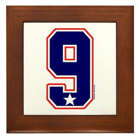 US(USA) United States Hockey 9 Framed Tile