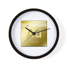 Gold (Au) Wall Clock