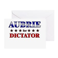 AUBRIE for dictator Greeting Card