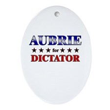 AUBRIE for dictator Oval Ornament