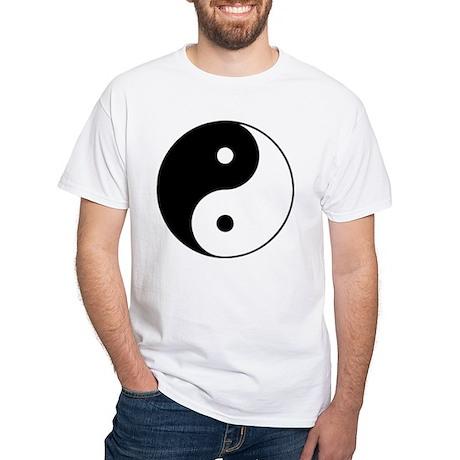 Yin Yang Taijitu White T-Shirt