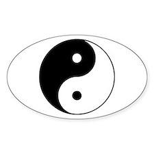 Yin Yang Taijitu Oval Decal