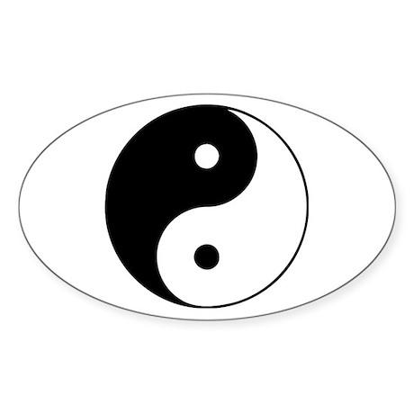 Yin Yang Taijitu Oval Sticker