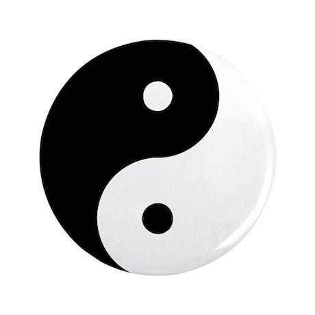 """Yin Yang Taijitu 3.5"""" Button (100 pack)"""