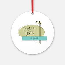 Everybody Loves a Lyricist Ornament (Round)