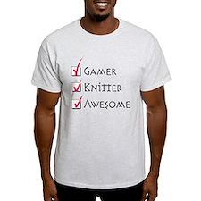 Gamer+Knitter+Awesome T-Shirt