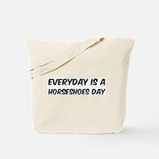 Horseshoes everyday Tote Bag