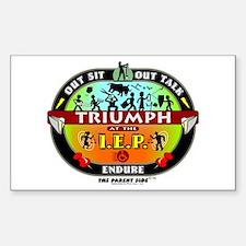 IEP Triumph Rectangle Decal