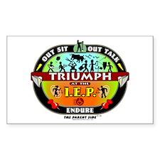 IEP Triumph Rectangle Stickers