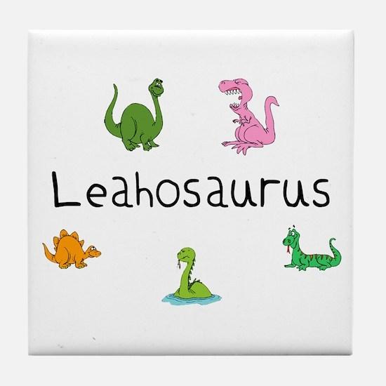 Leahosaurus Tile Coaster