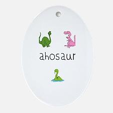 Leahosaurus Oval Ornament