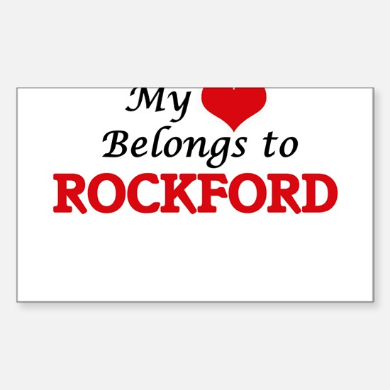My heart belongs to Rockford Illinois Decal