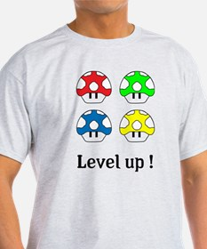 Mushrooms - level up ! T-Shirt