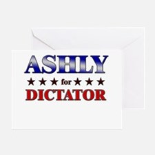 ASHLY for dictator Greeting Card