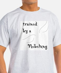 Trained by a Nebelung Ash Grey T-Shirt