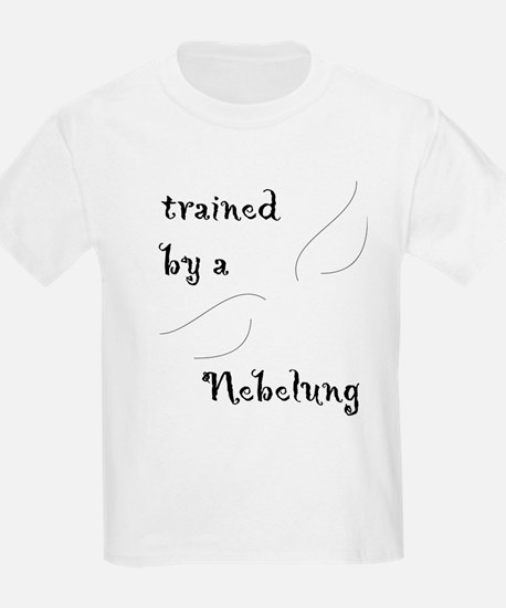 Trained by a Nebelung Kids T-Shirt