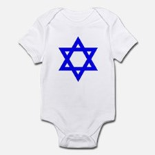 Star of David Blue Infant Bodysuit