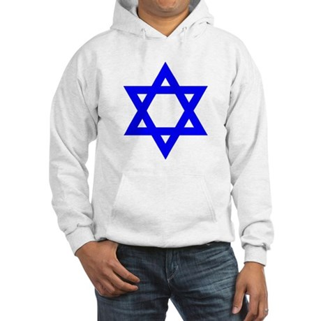 Star of David Blue Hooded Sweatshirt