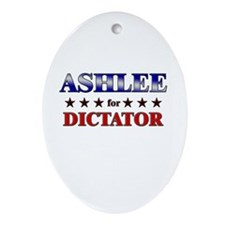 ASHLEE for dictator Oval Ornament