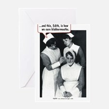 Nurse Blabbermouth Cure Greeting Cards