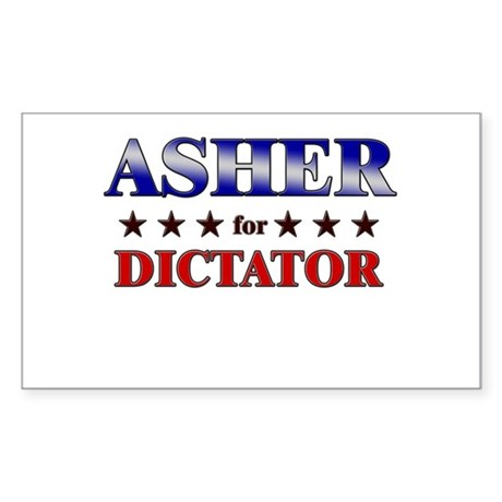 ASHER for dictator Rectangle Sticker