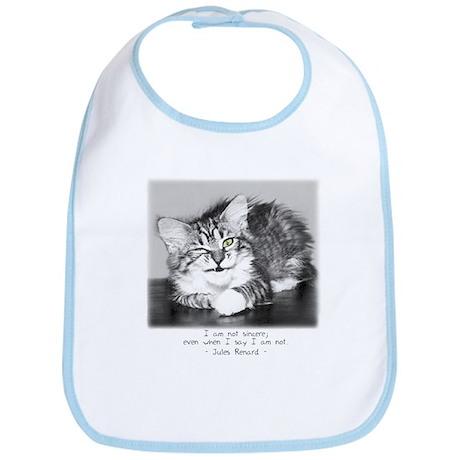 Insincere Cat-and-Quote Bib