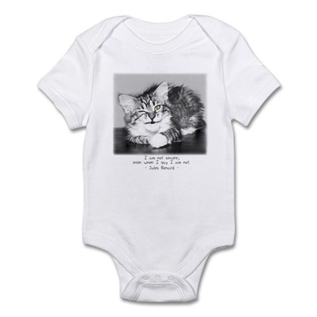 Insincere Cat-and-Quote Infant Bodysuit