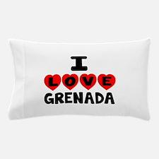 I Love Grenada Pillow Case