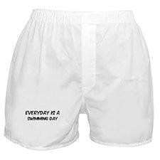 Swimming everyday Boxer Shorts