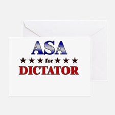 ASA for dictator Greeting Card