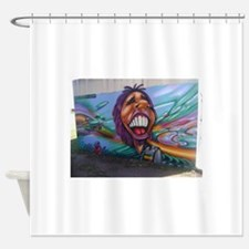 rasta graffiti Shower Curtain