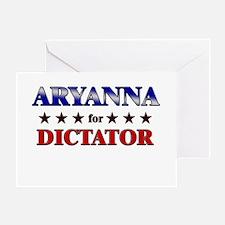 ARYANNA for dictator Greeting Card