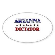ARYANNA for dictator Oval Decal