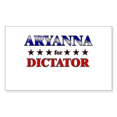 ARYANNA for dictator Rectangle Sticker